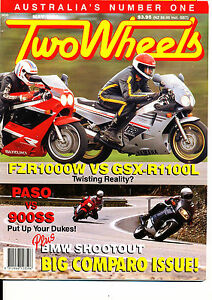 Two Wheels Magazine May 1990 Yamaha FZR1000W