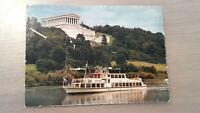 Postkarte Walhalla Donau Personenschiffahrt Regensburg Passau Agnes Bernauer