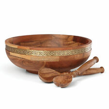 Lenox Global Tapestry Salad Bowl with Servers - Set of 2
