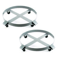 Drum Dolly 1000 lb 55 Gallon w Swivel Casters Heavy Duty Steel Frame x 2