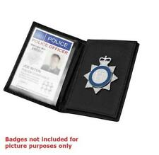 More details for soft leather id / warrant card holder / wallet for police security officer pcso