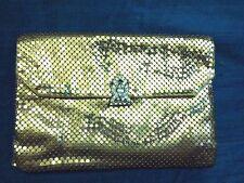 VTG Whiting And Davis Gold Metal Mesh Purse Diamond Clasp Retro Glam Girl G