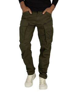 G-Star Men's Rovic Zip 3D Straight Tapered Cargos, Green
