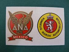 N°80 A & B AC MEXIQUE - AC NORVEGE PANINI 1972 HISTOIRE DE L'AUTOMOBILE