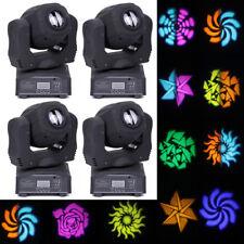 4PCS 80W RGBW LED Moving Head Stage Lighting DMX 8 Patterns Club Party DJ Light