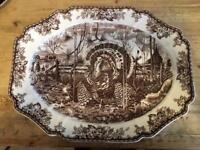Wedgwood Williams Sonoma His Majesty Turkey Platter Made England MINT