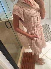 NEW $130 BCBG Generation Nude Blush Pin Up Polka Dot dress Medium M  New