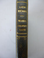 "HEMON. Maria Chapdelaine. ""Les Cahiers verts"".1921. E.O. française. 1/2 maroquin"