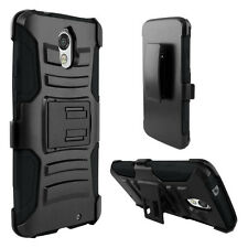 Motorola Droid Turbo 2 Moto X Force 2 XT1585 BLACK Stand Cover Case & Holster