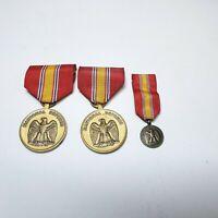 Vintage Korea Genuine National Defense Service Medal Lot of 3 US Military