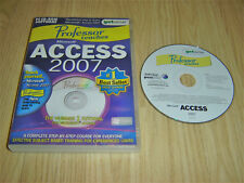PROFESSOR TEACHES MICROSOFT ACCESS 2007 PC CDROM LEARNING SOFTWARE