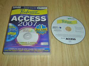 PROFESSOR TEACHES MICROSOFT ACCESS 2007 PC CDROM LEARNING SOFTWARE