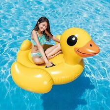 Duck Inflatable Ride-On Play Swimming Pool Float Raft Lounger Water Beach Toy