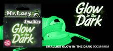 110cm lang 10mm breed platte veters Glow in the Dark groen Schoenveters MrLacy