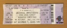 2002 Kroq Acoustic Xmas Los Angeles Concert Ticket Stub Queens Of The Stone Age