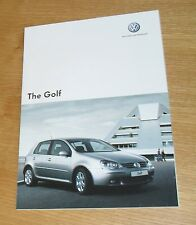 Volkswagen VW Golf Mk5 Brochure 2007 - GTI Edition 30 1.9 2.0 TDI R32 Match 1.4