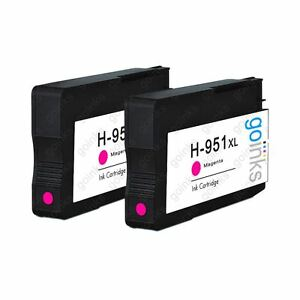 2 Magenta Ink Cartridges to replace HP 951M (HP951XL) non-OEM / Compatible