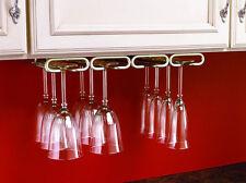 "11"" Quad Wine Glass Rack Hanger Holder Stemware Satin Nickel (Rev-A-Shelf)"
