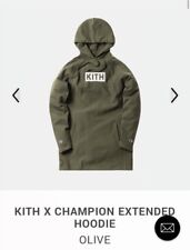 Kith x Champion Extended Pullover Hoodie Olive NWT Sz M