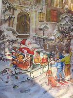Vintage Christmas Advent Calendar Card by RS Stuttgart-Rohr - Western Germany