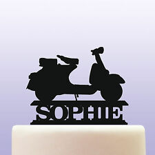 Personalised Acrilico SCOOTER MOTO Cake Topper Decorazione
