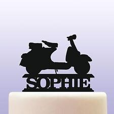 Personalised Acrilico SCOOTER MOTO Cake Topper Decorazione