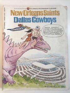 1971 Dallas Cowboys vs New Orleans Saints Game Program Salesmanship Club 8/14/71