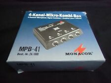 MPB-41 by MONACOR Microphone Signal Combiner 4 channel, Transformer Isolated