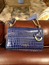 Oroton Crossbody Mini Purse BRAND NEW Navy Blue Leather Bag Charm Chain Strap