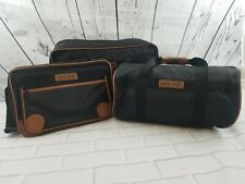 Pierre Cardin Black Nylon Carry on Luggage Set