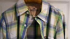 Hollister Camicia. controlli (Bianco Blu Verde Giallo). Taglia M. Nuovo