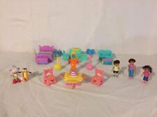 Dora Magical Welcome Dollhouse Replacement Lamp Clock & Furniture LOT Hot Spot !