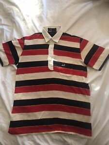 Vintage DUNHILL Golf Mens Polo Shirt Size S Small WOW 1970's Made In Italy
