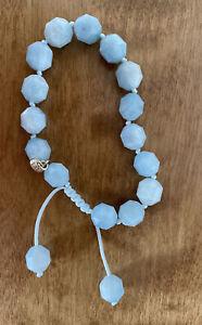 Lola Rose Sari bracelet in aquamarine.