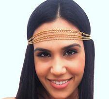 Mujeres de moda Metal Rhinestone Cabeza cadena joyería Diadema Cabeza Pieza banda de pelo