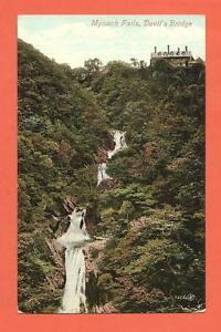 Mynach Falls, Devil's Bridge, Aberystwyth, Postcard.