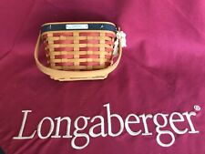 Longaberger 2001 Inaugural Basket - w/protector and tie on - Euc