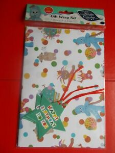 IN THE NIGHT GARDEN GIFT WRAP SET - 2 SHEETS & 2 TAGS