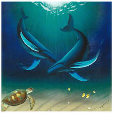 """WYLAND """"IN THE COMPANY OF WHALES""""S/N NEW GICLEE/CANVAS"""