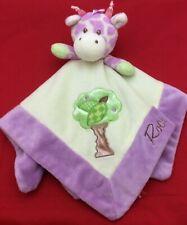 Rock A Bye Baby Giraffe Purple Plush Security Blanket Lovey by Aurora ~ Minty