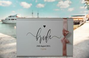 Wedding Dress Box-Standard Airline size-personalised