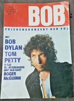 Bob Dylan Tom Petty Berlin 1987 with Roger McGuinn Program with Poster