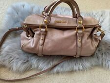 Auth MIU MIU Vitello Lux Large Bow Satchel Bag with Strap RRP $2030