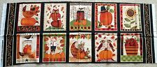 "1 Colorful ""Give Thanks"" Cotton Quilting/Wallhanging Crafting Fabric Panel"