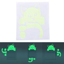 Kitty Cat Luminous Switch Wall Sticker Cartoon Kid Bedroom Home Decor 1 Pcs kz