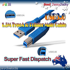 1.5M USB3.0 A->B Male Printer Portable Hard Drive Extension HighSpeed Cable Cord