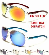 X-Loop Sport Pilot Designer Mirrored Mens Womens Sunglasses 100%UV400 1409