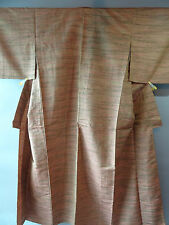 Japanese Traditional Nishijin-weave SILK Tsumugi Kimono 西陣織 紬 Good condition