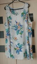 Evans Floral Sleeveless Top Size 22 - 24. Good Condition