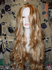 Sin City Wigs Extra Long Frosted Red W/ Highlights Soft Silky Curled Ends Sexy